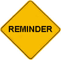 Image result for reminder sign