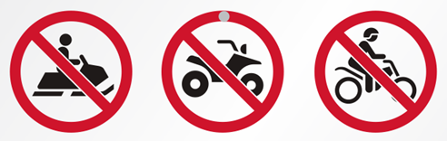 Image result for no dirt bikes sign